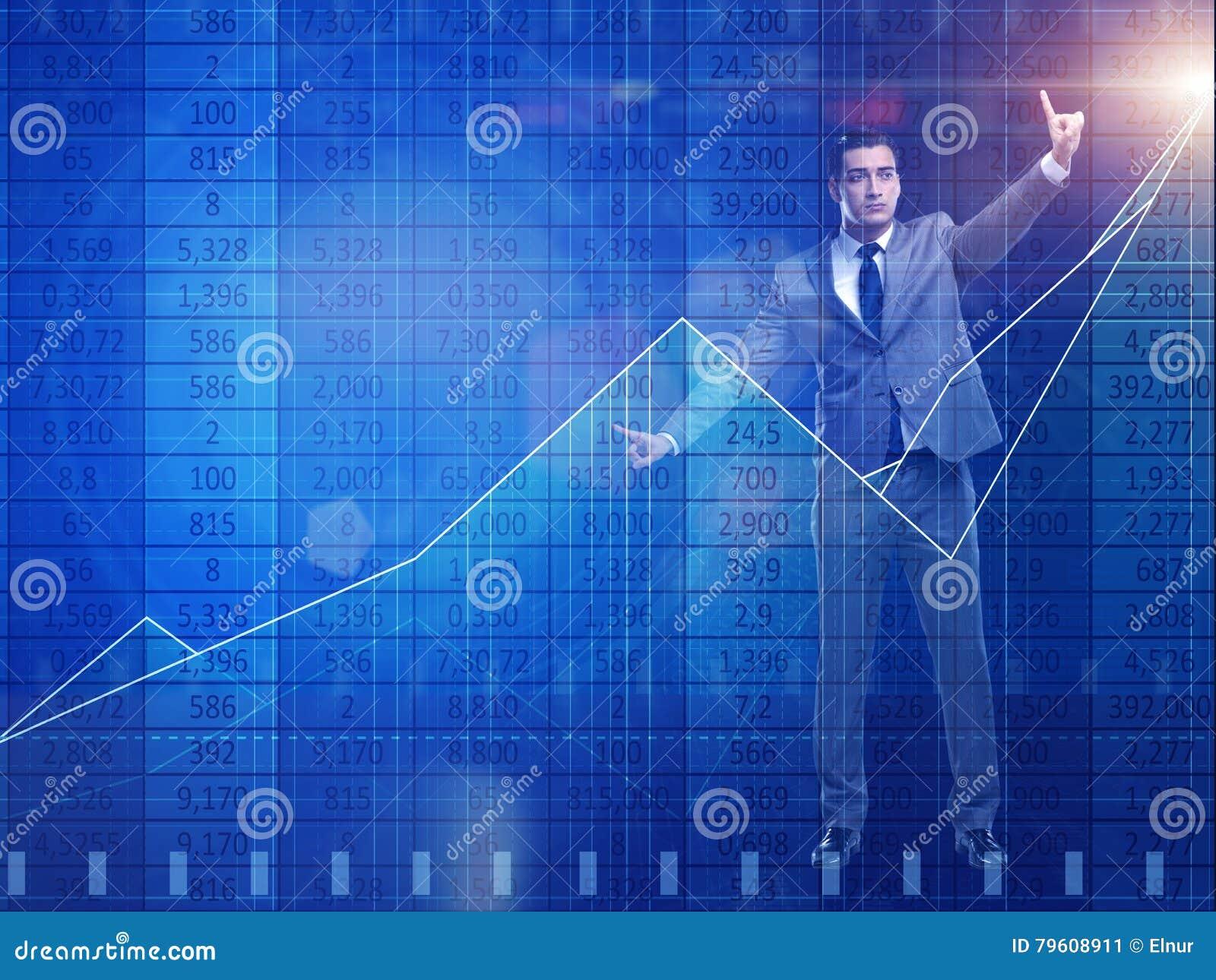 O homem no conceito de troca da bolsa de valores