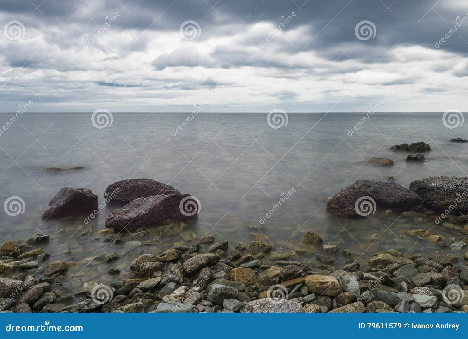 O horizonte do Lago Baikal