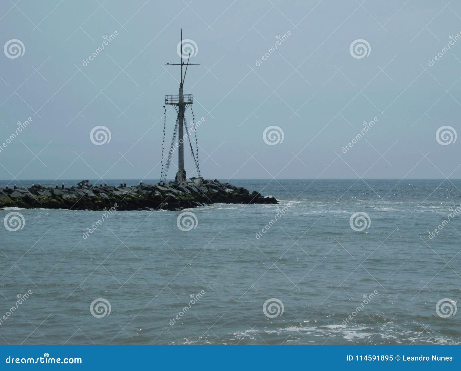 O horizonte no Oceano Pacífico