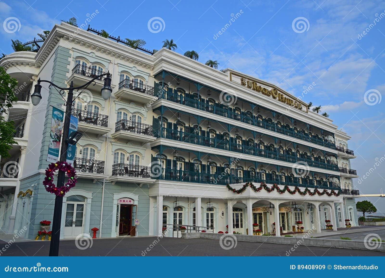 O hotel bonito das rochas com arquitetura excelente em Macau