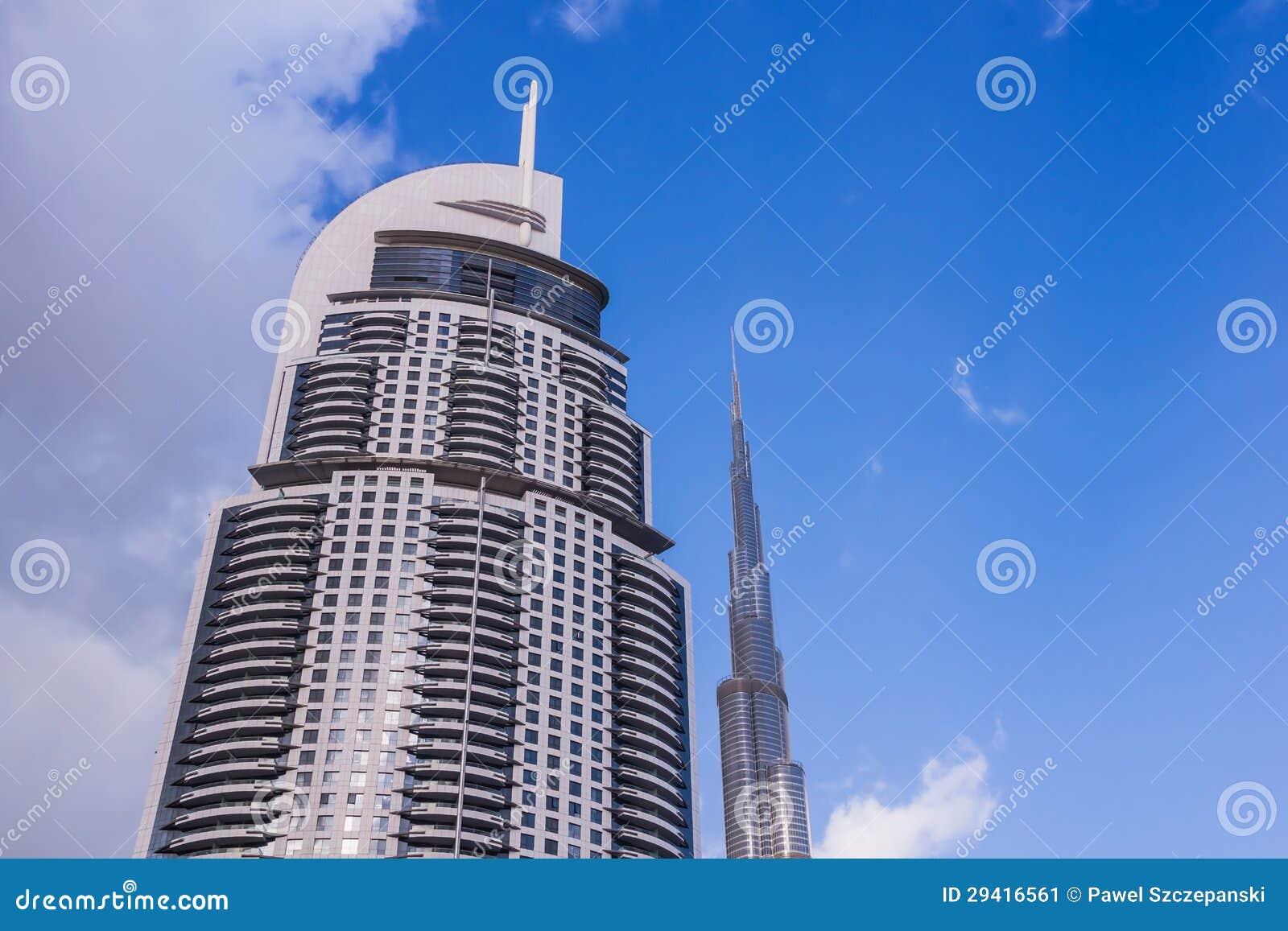 O hotel do centro de Dubai do endereço
