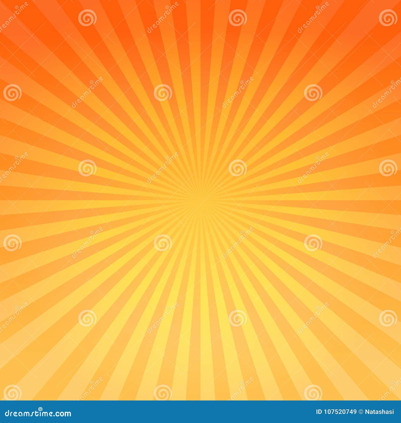 O inclinação alaranjado amarelo brilhante abstrato irradia o fundo Cmyk do EPS 10 do vetor