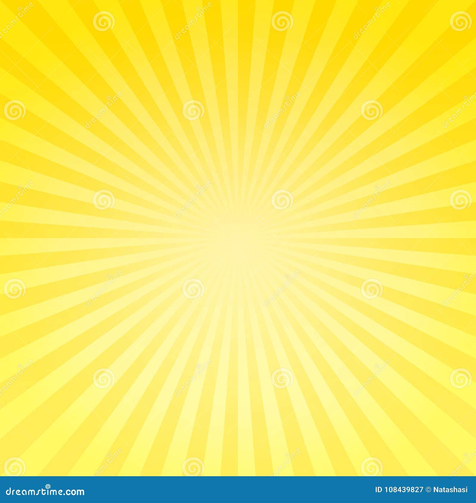 O inclinação amarelo brilhante macio abstrato irradia o fundo Vetor EPS 10, cmyk