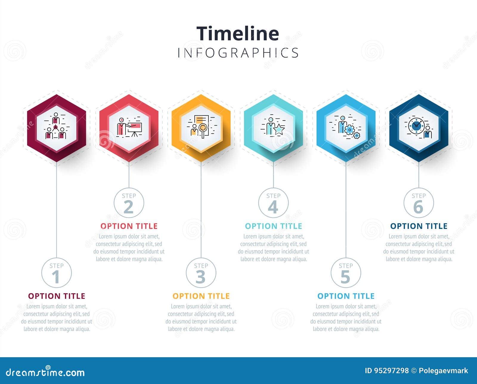 O infographics da carta de processo da etapa do negócio 6 com etapa circunda