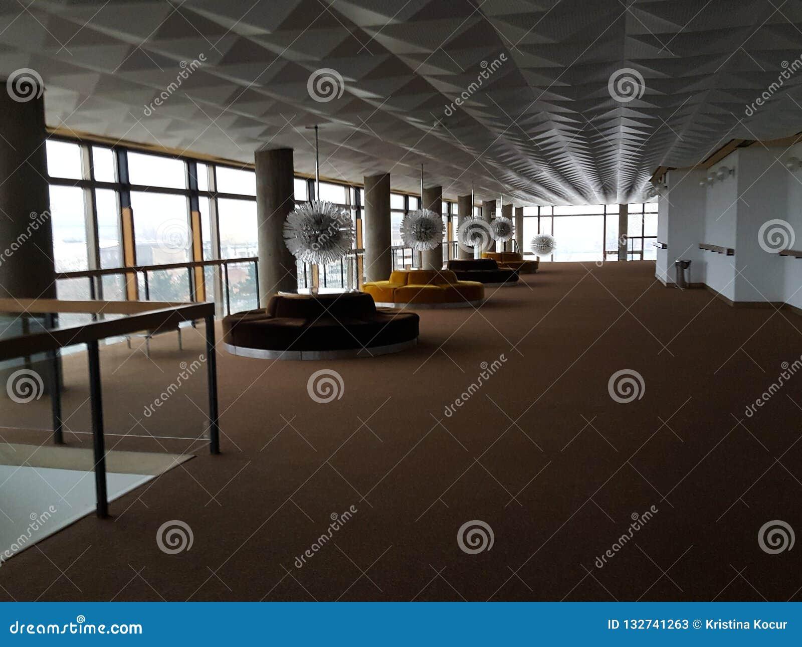 O interior do teatro de Lisinski
