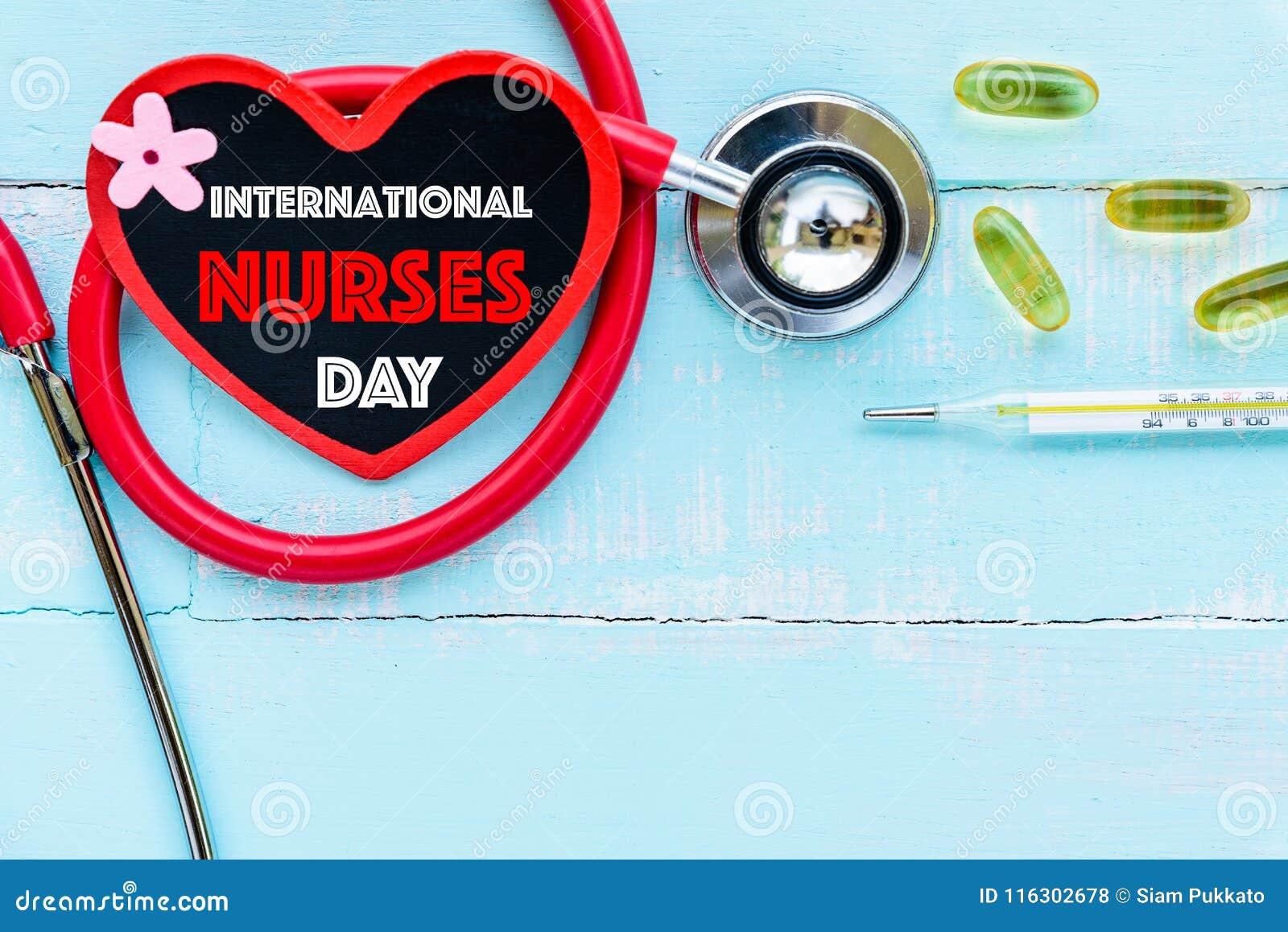 O International nutre o dia, o 12 de maio Cuidados médicos e conceito médico