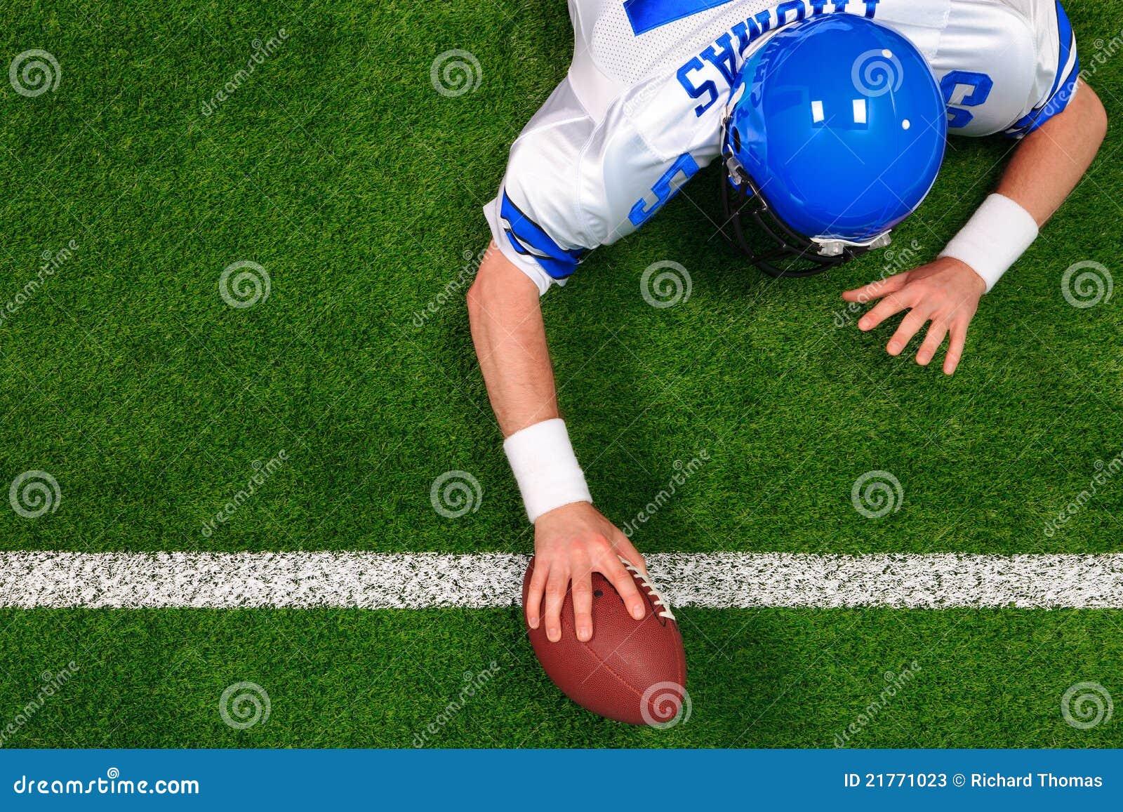 O jogador de futebol americano um entregou o aterragem