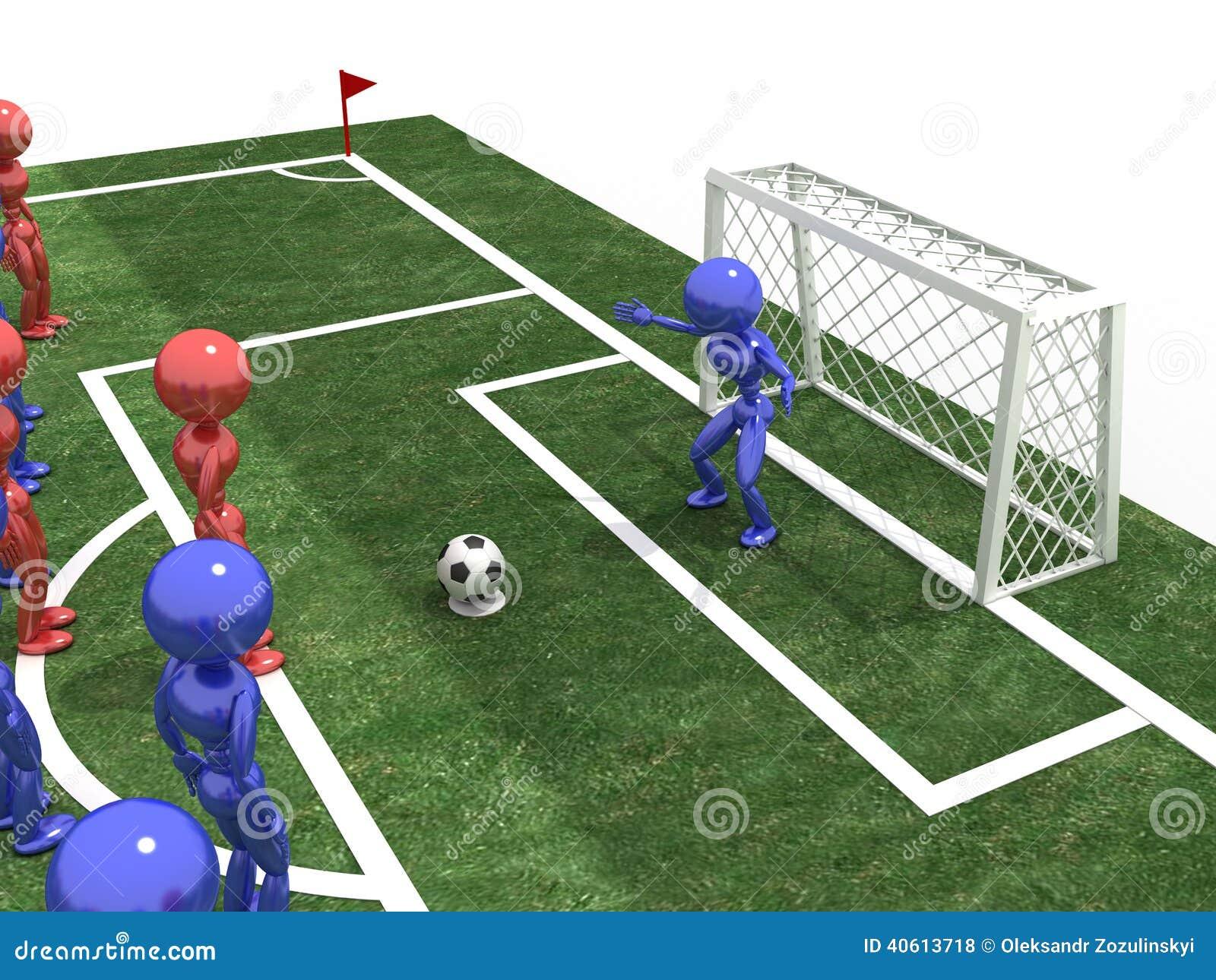 O jogador de futebol toma a pena #2