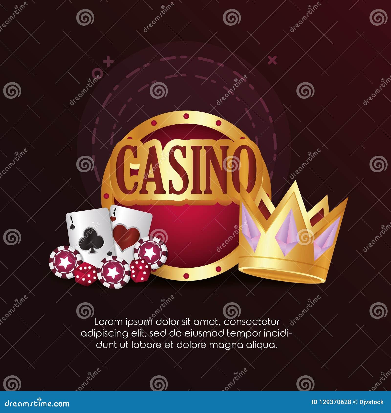 O jogo de cartões do pôquer do casino corta a coroa da placa de microplaquetas