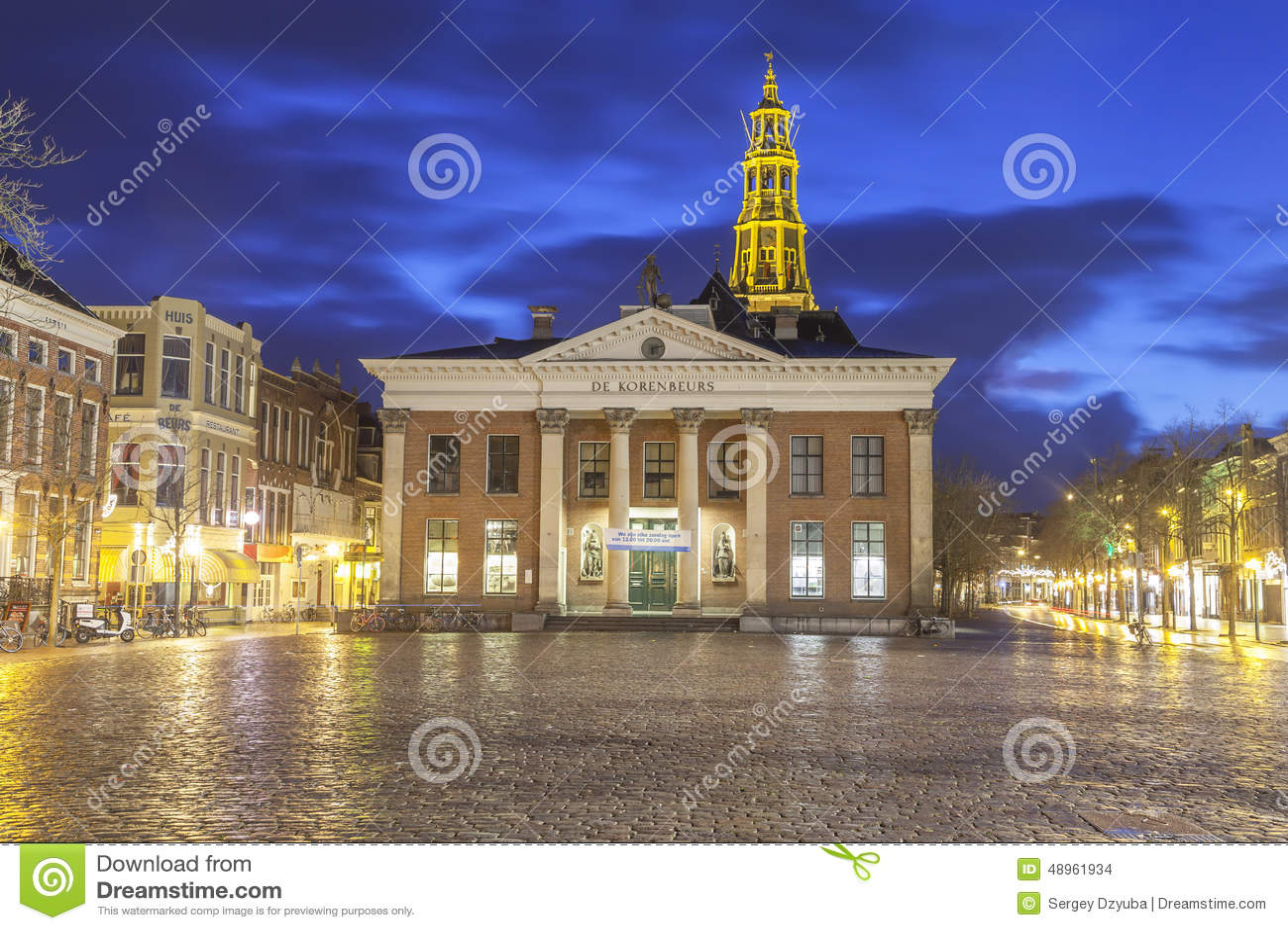 O Korenbeurs - troca de grão anterior em Groningen