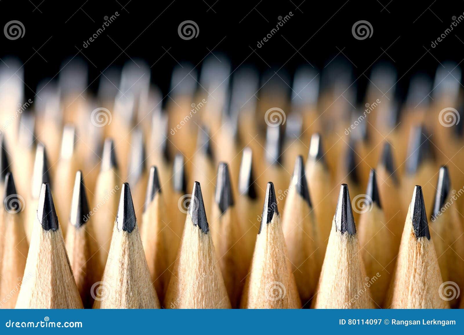 O lápis colocado