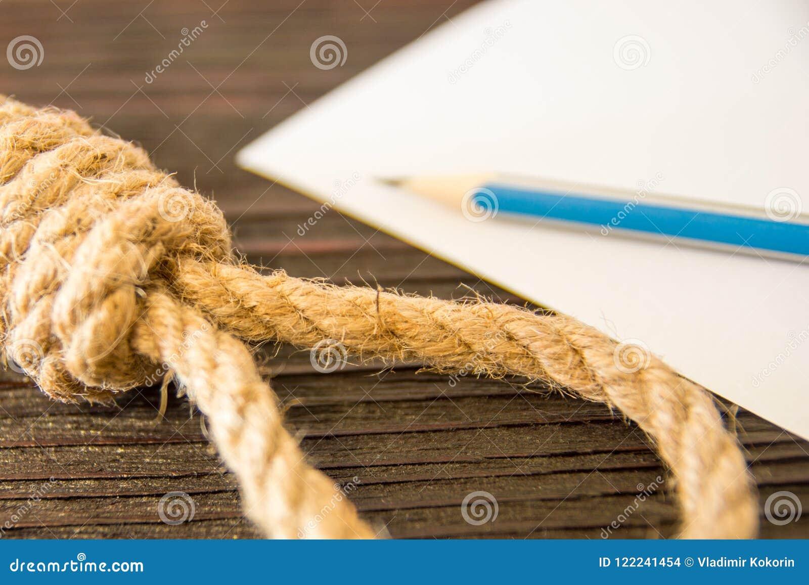 O laço mortal da corda Últimos segundos da vida Amor Unrequited