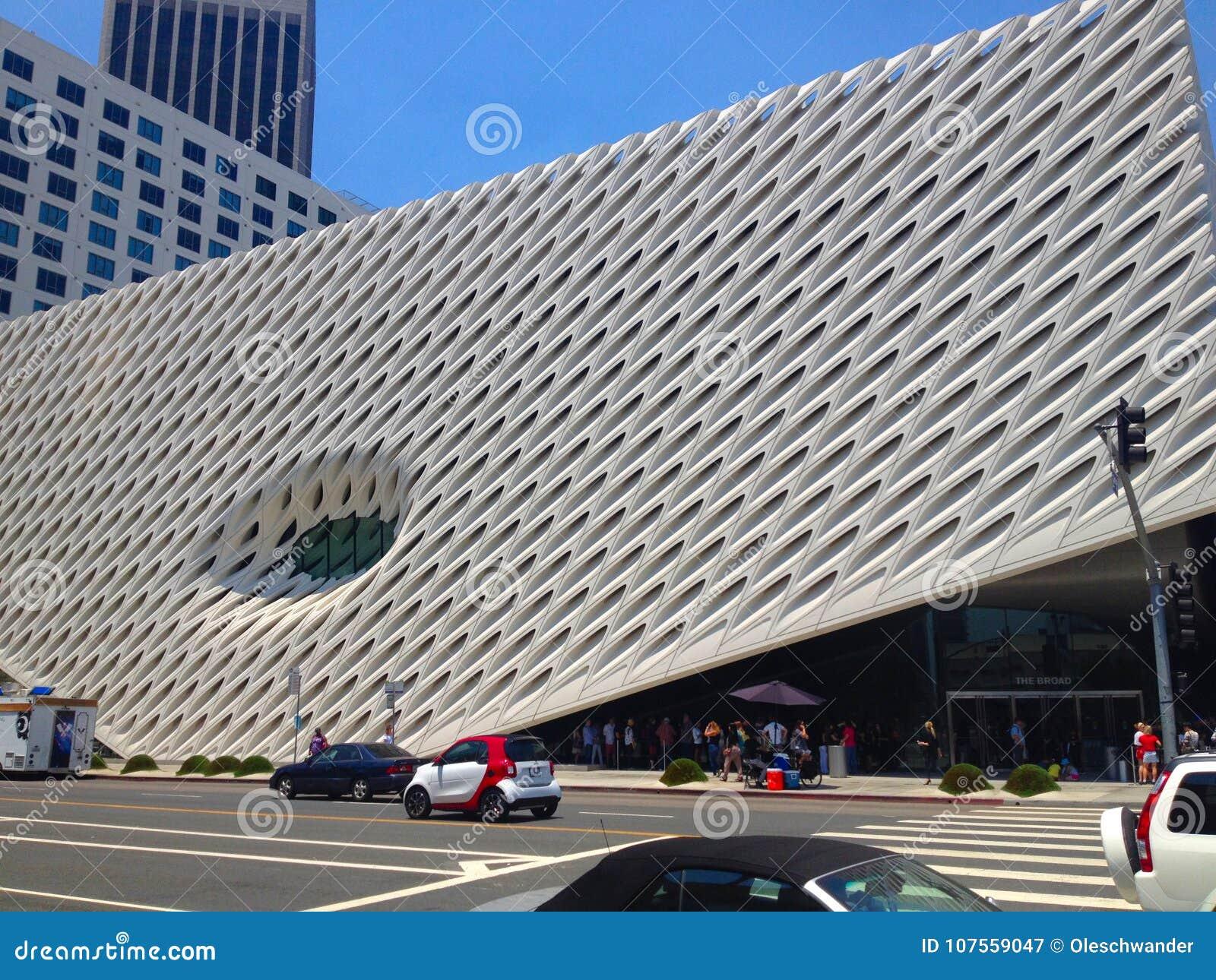 O largo, um museu de arte contemporânea em Los Angeles, Califórnia, casa a 2000 obras de arte na coleção larga
