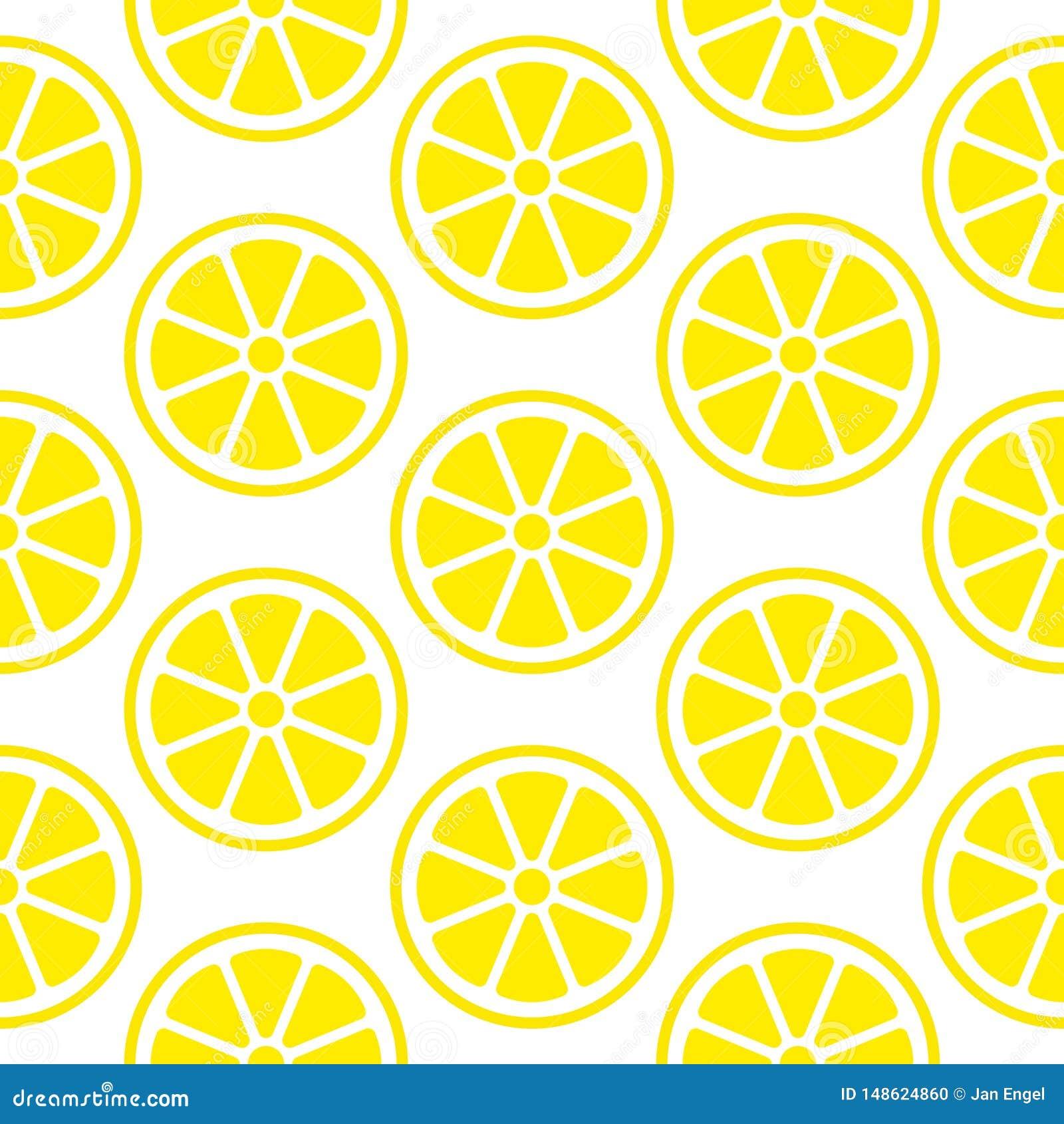 O limão sem emenda abstrato do teste padrão corta o quadrado amarelo