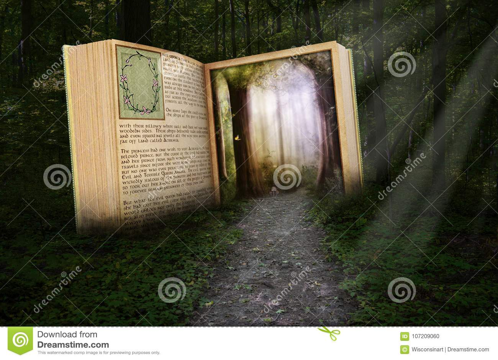 O livro de leitura surreal, leu a história