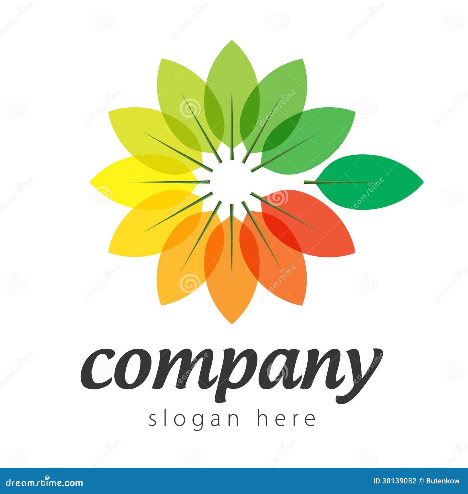 Plantas coloridas do logotipo