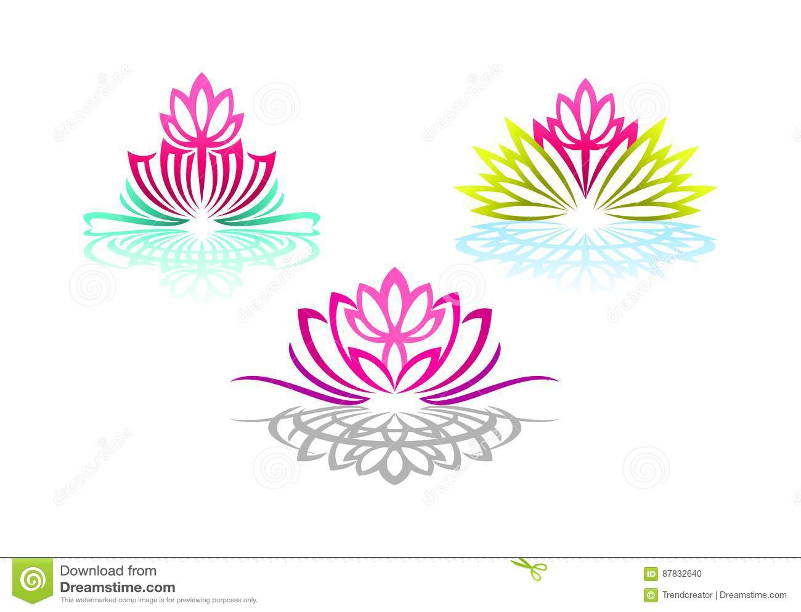 O logotipo de Lotus, a ioga da mulher, a massagem da flor da beleza, o sentido bonito dos termas, o bem-estar da reflexão, e natu