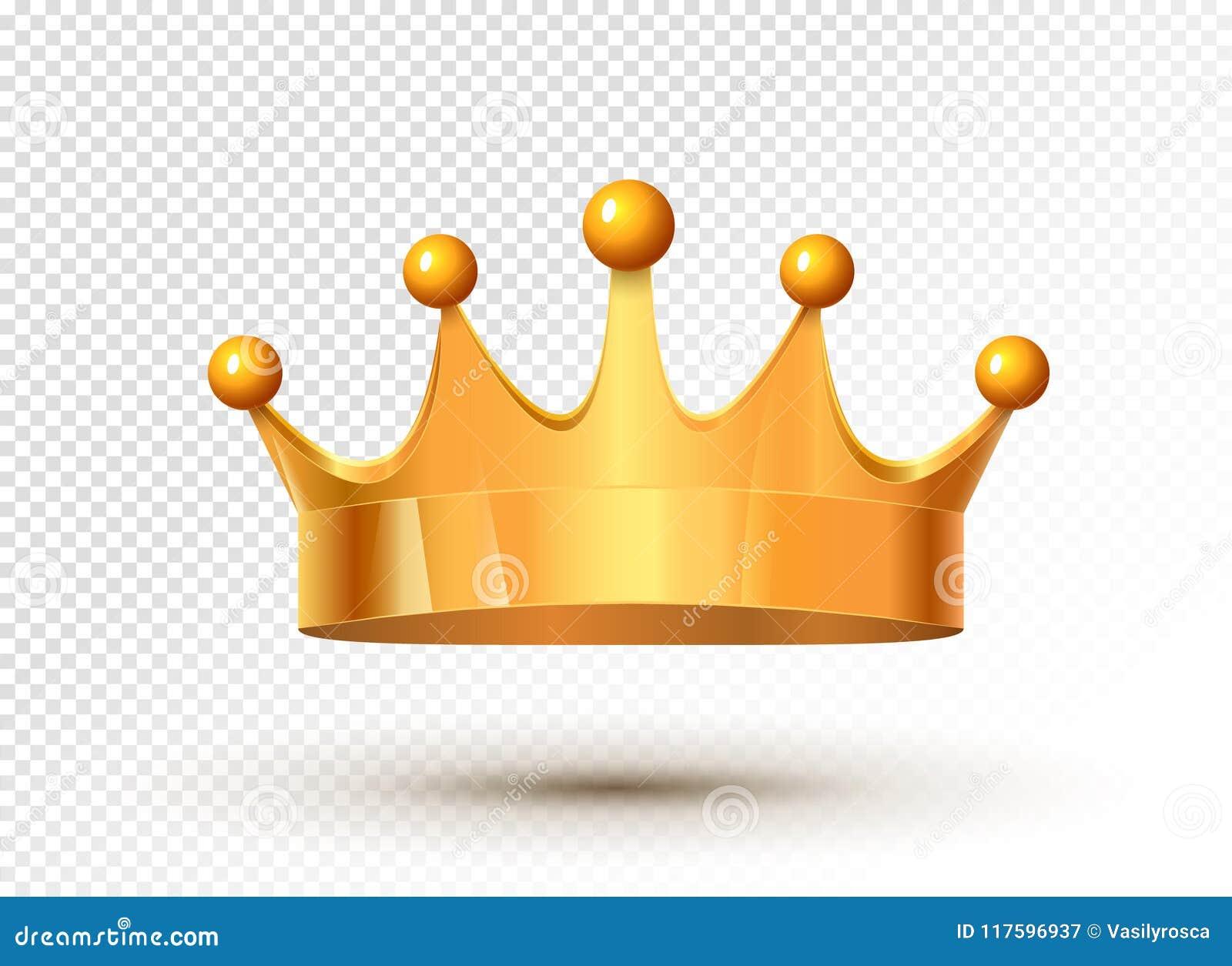 O luxo real da coroa dourada do rei isolou o tesouro medieval do monarca Autoridade da coroa do ouro do metal