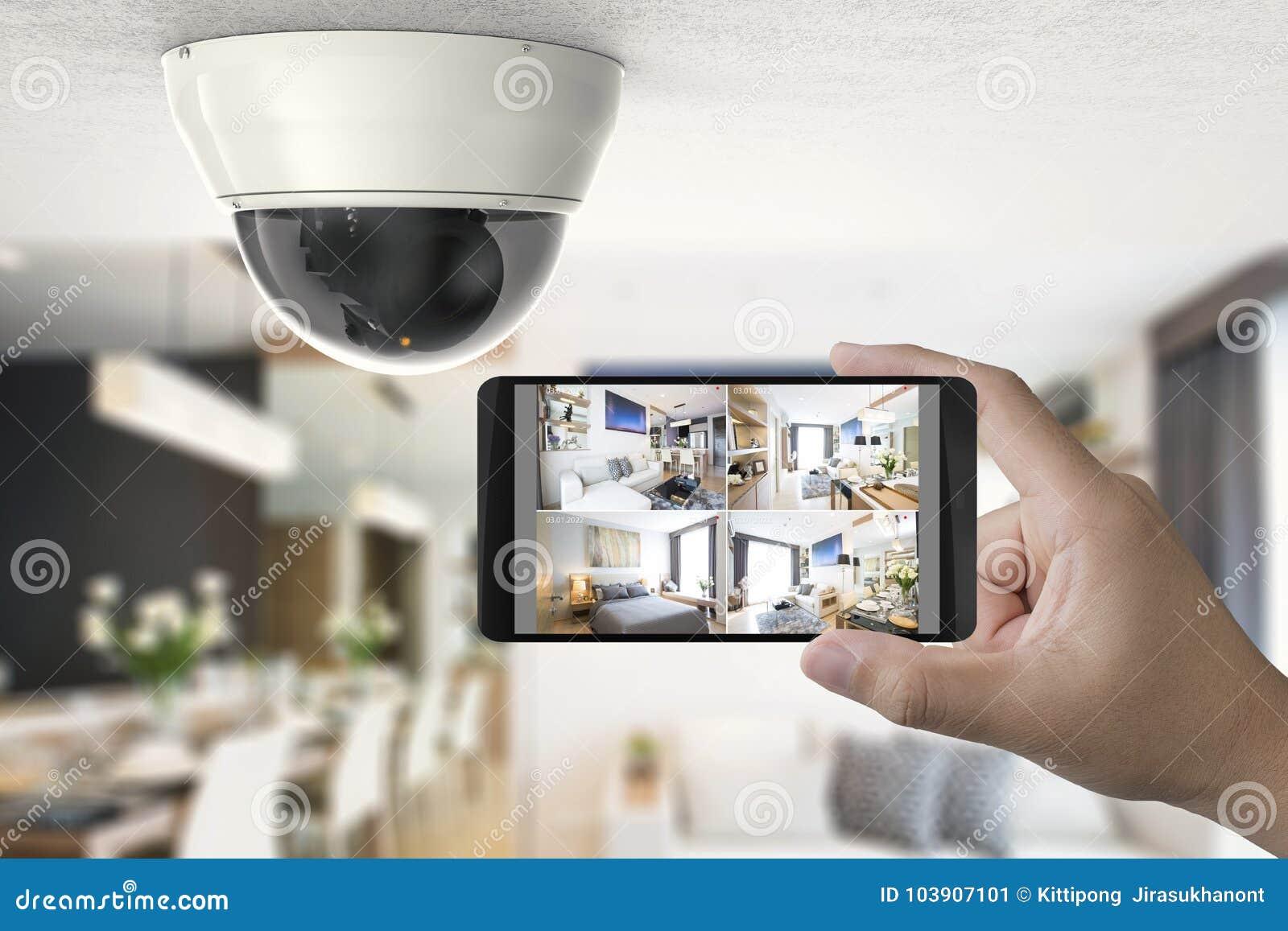 O móbil conecta com a câmara de segurança