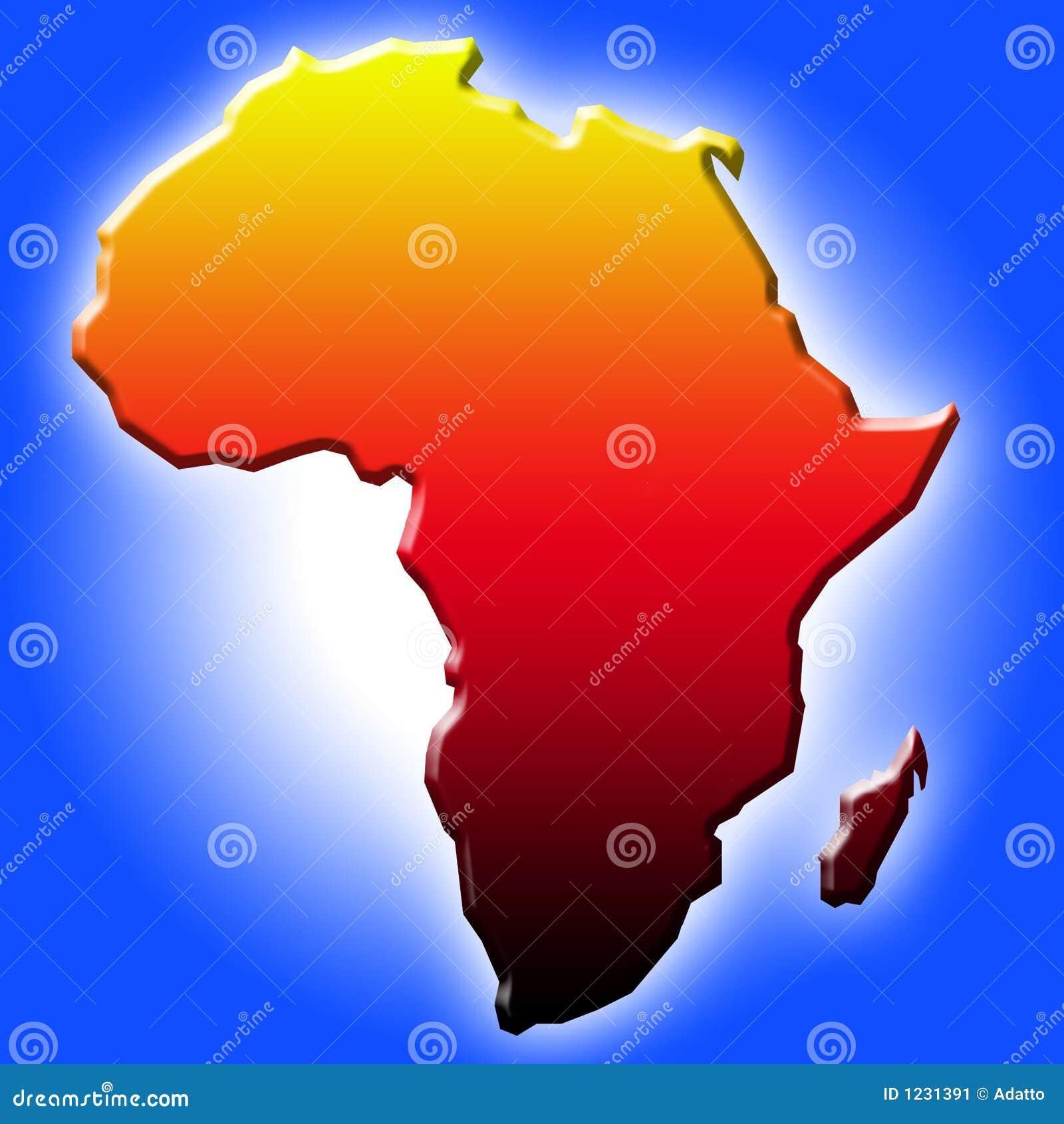 O mapa de África