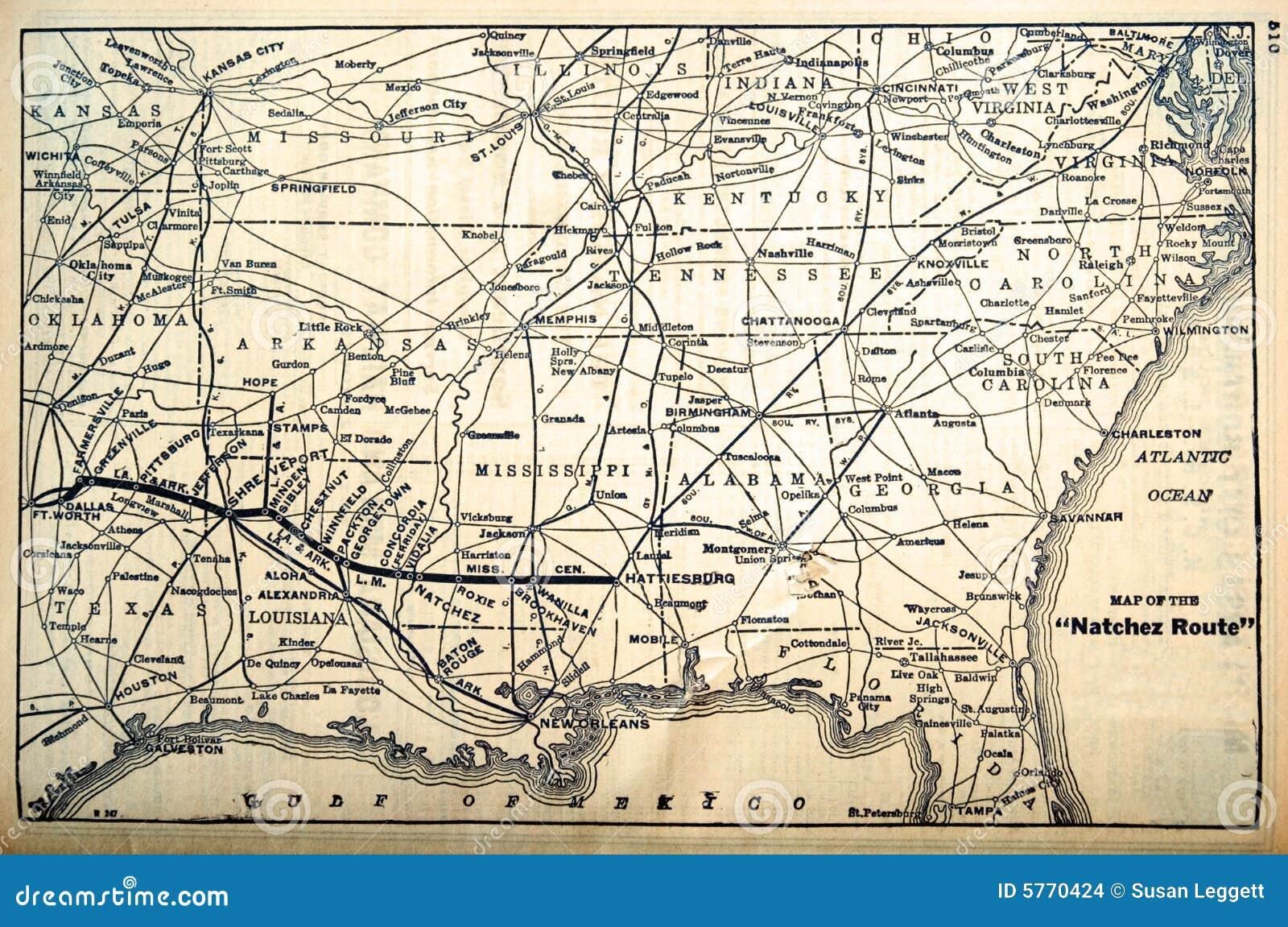 mapa da estrada O Mapa/estrada De Ferro Distribui Os Anos 60 Foto de Stock  mapa da estrada