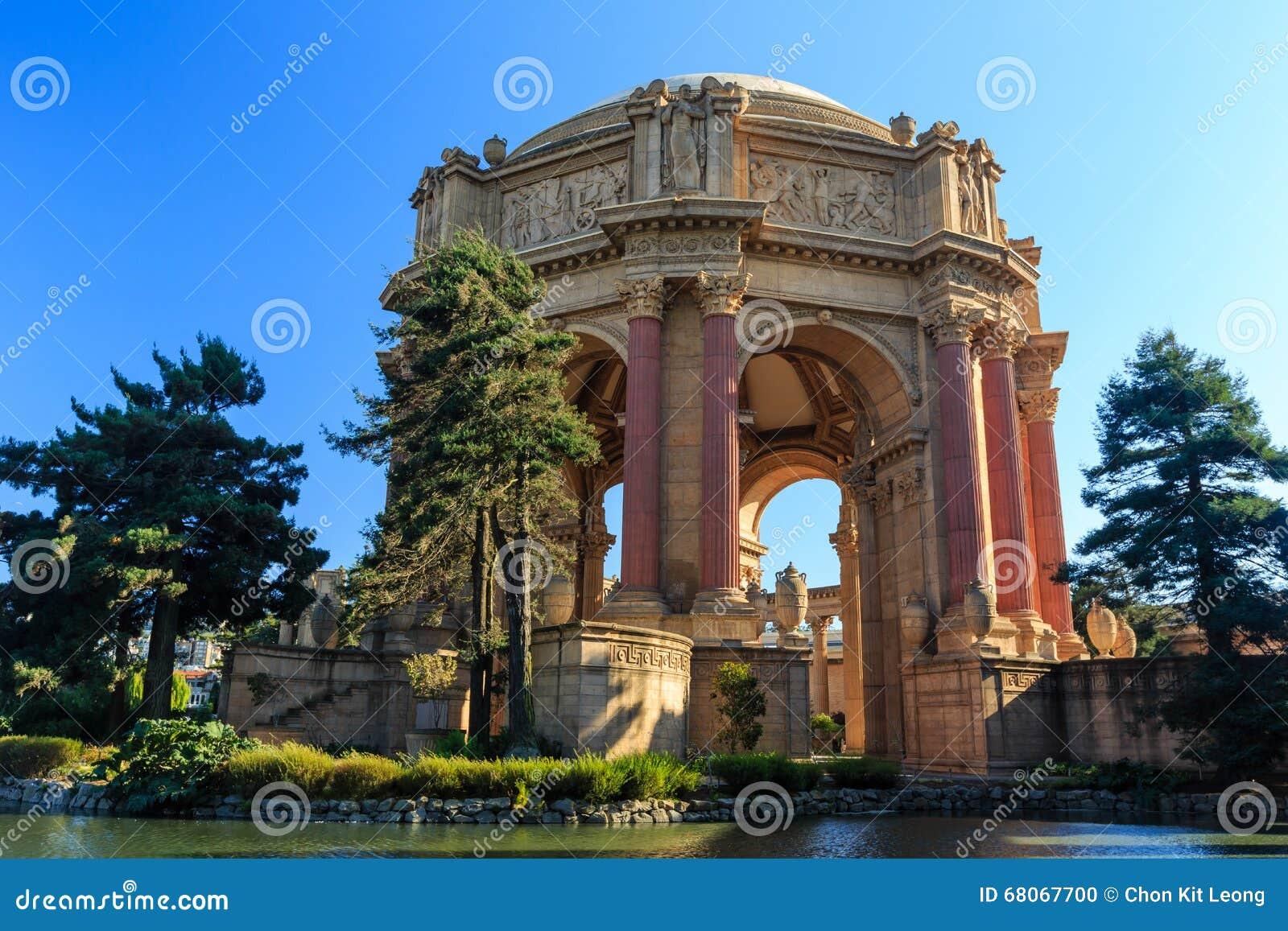 O marco famoso de San Francisco - palácio das belas artes