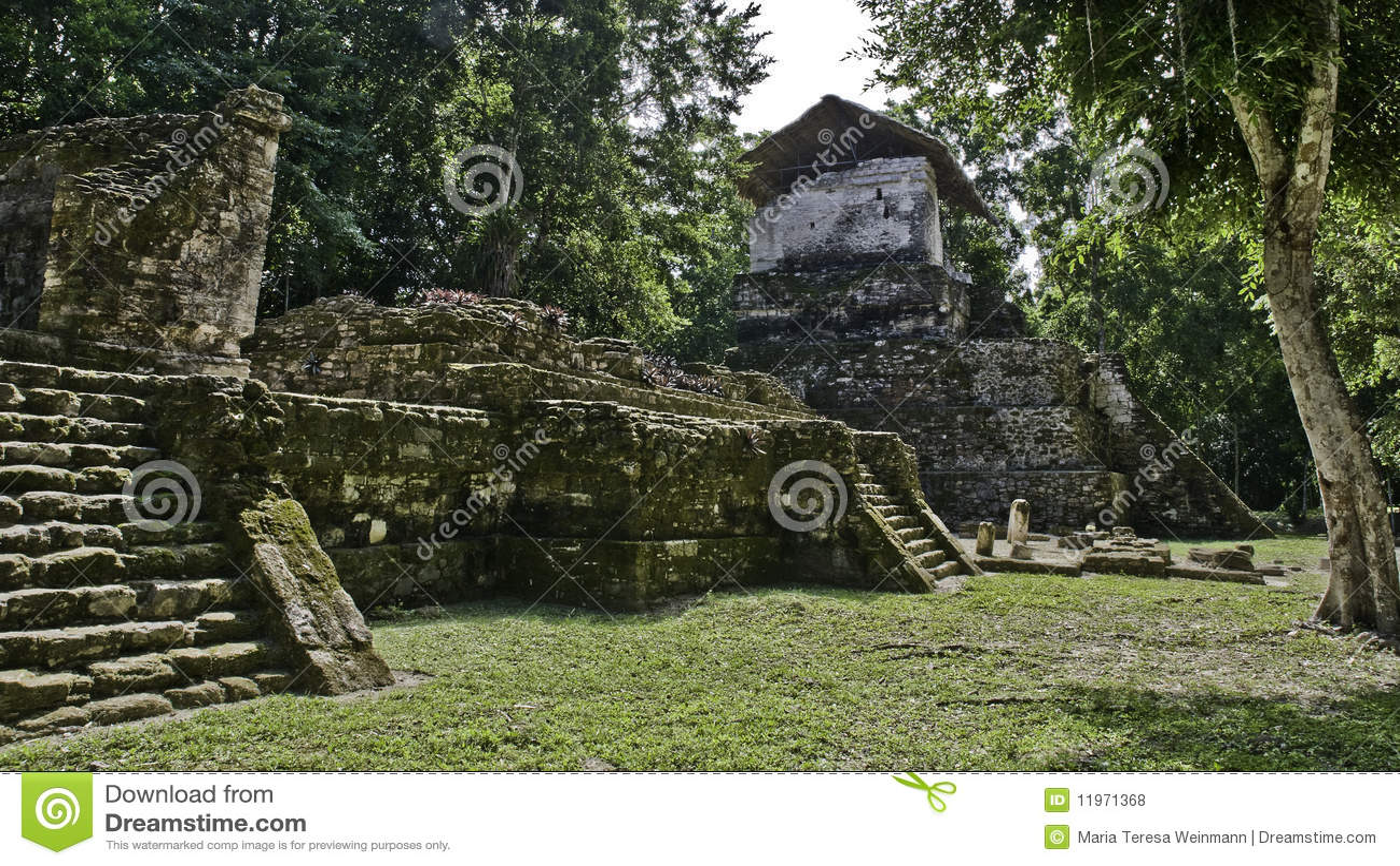 O Maya arruina a ilha do topoxte