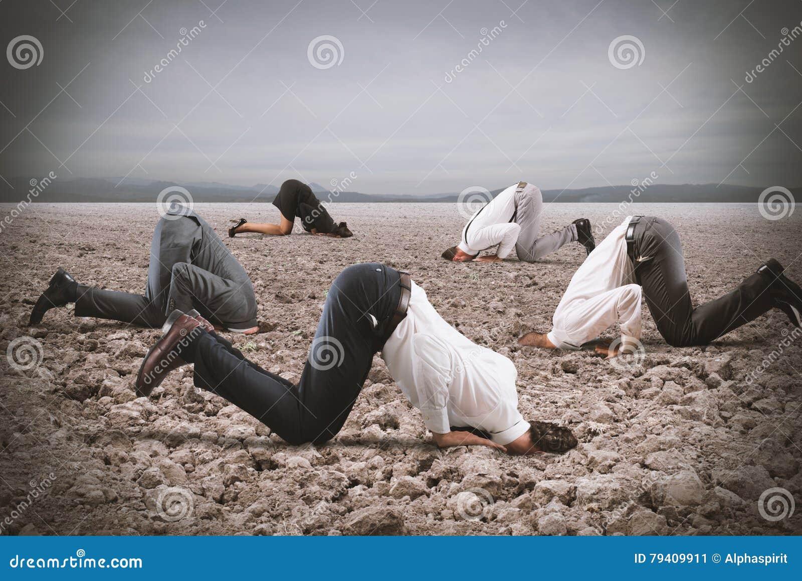 O medo da crise com empresários gosta de uma avestruz