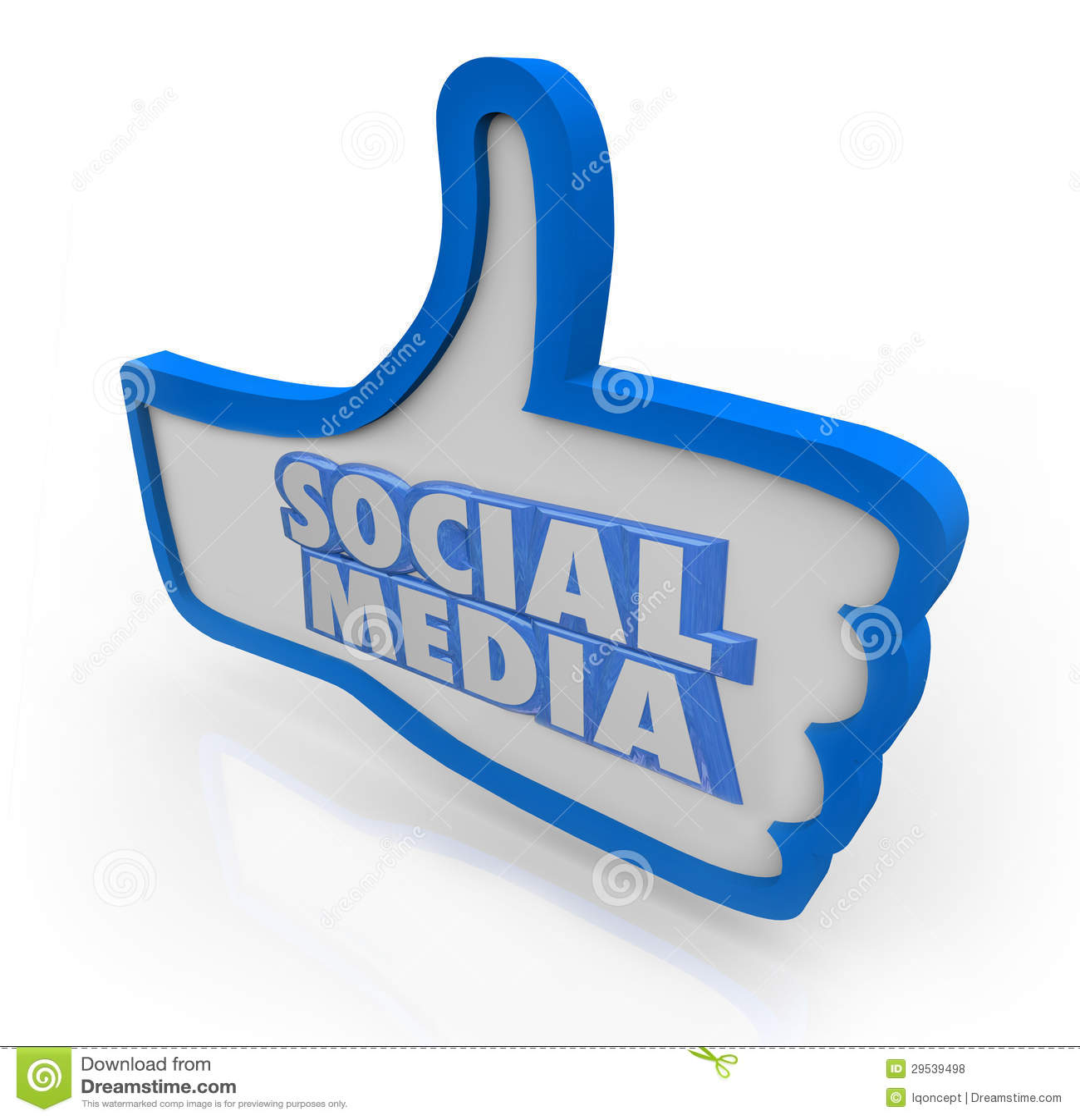 O meio social exprime os polegares azuis acima da rede da comunidade