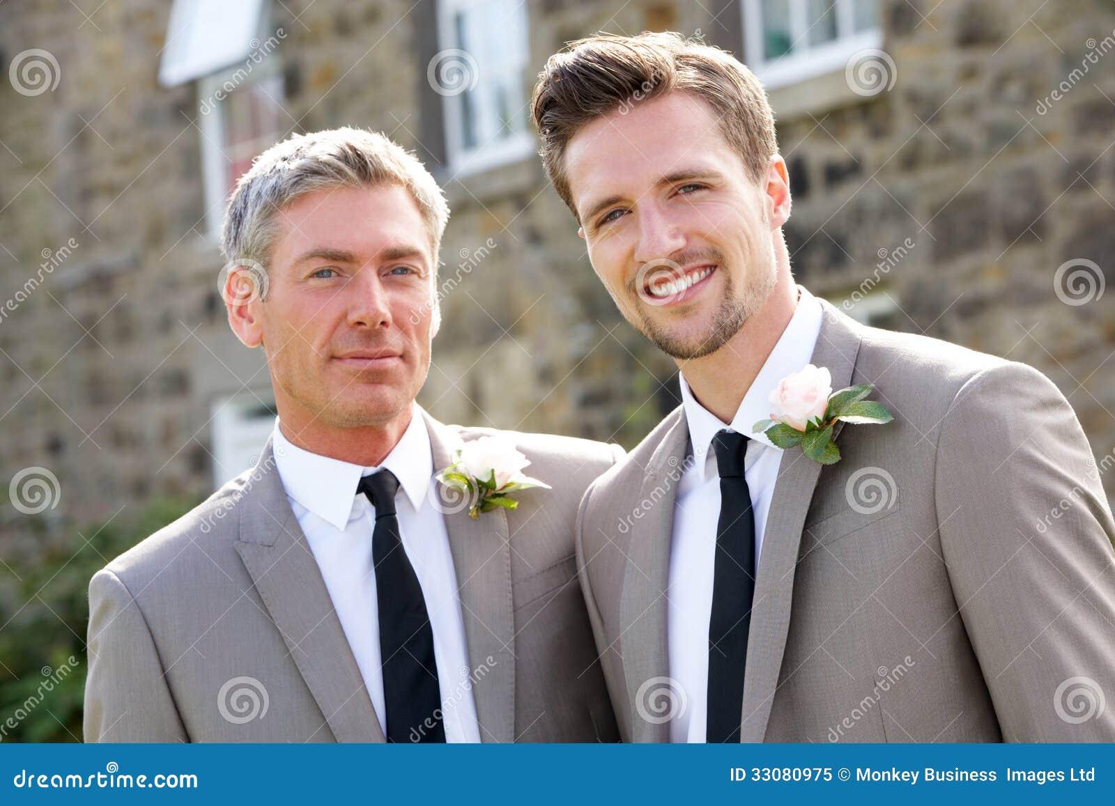 O melhores homem e noivo At Wedding