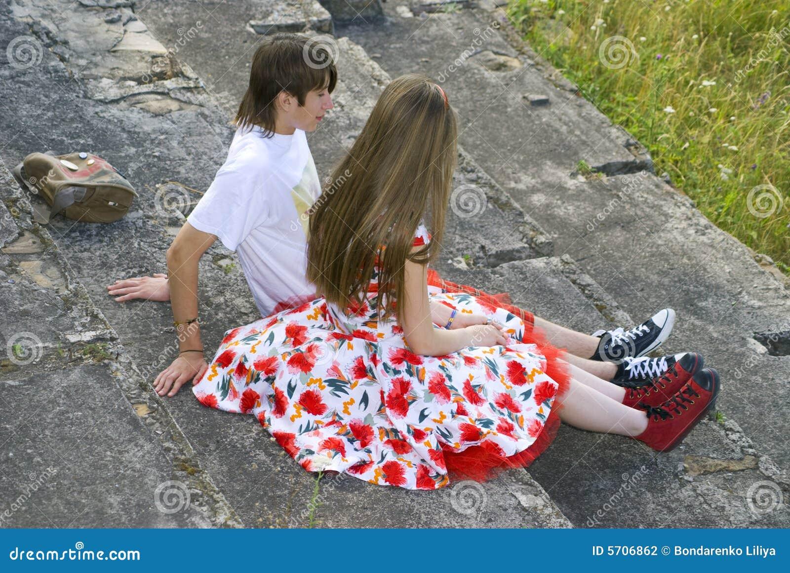 O menino e a menina