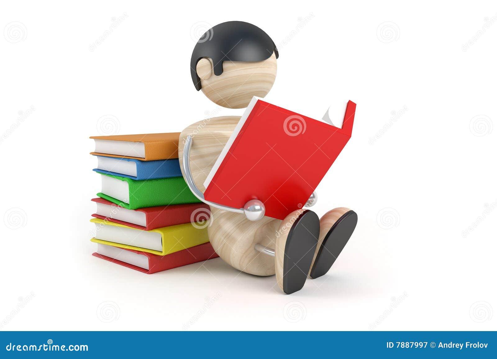 O menino leu o livro
