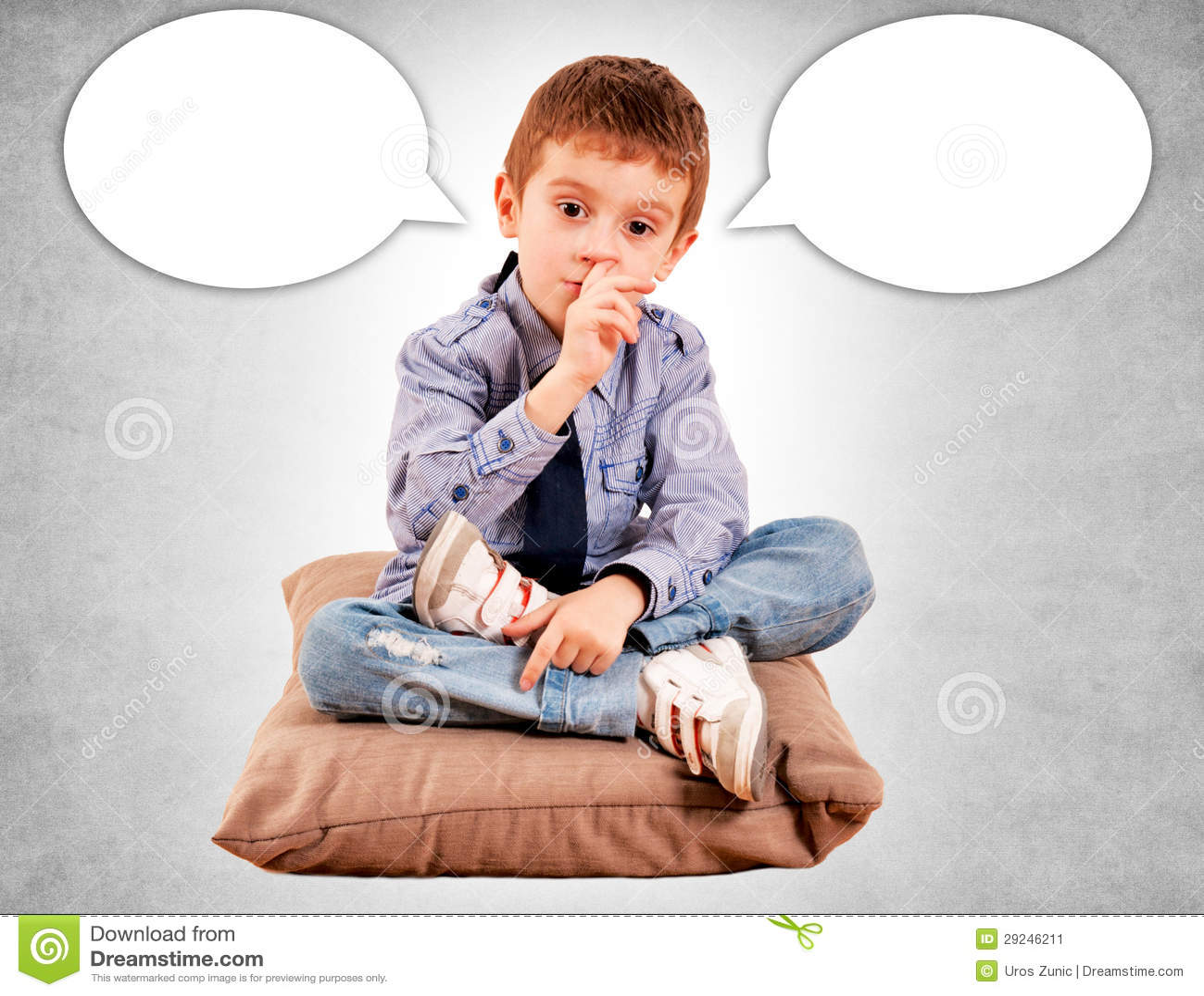 Download O menino no descanso imagem de stock. Imagem de escavar - 29246211