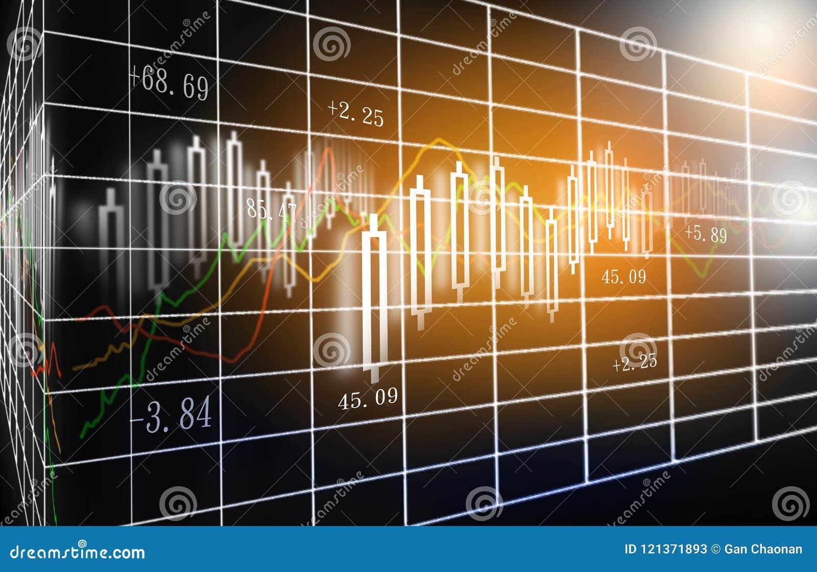 O mercado de valores de ação ou o gráfico e o castiçal de troca dos estrangeiros fazem um mapa de apropriado para o conceito do i