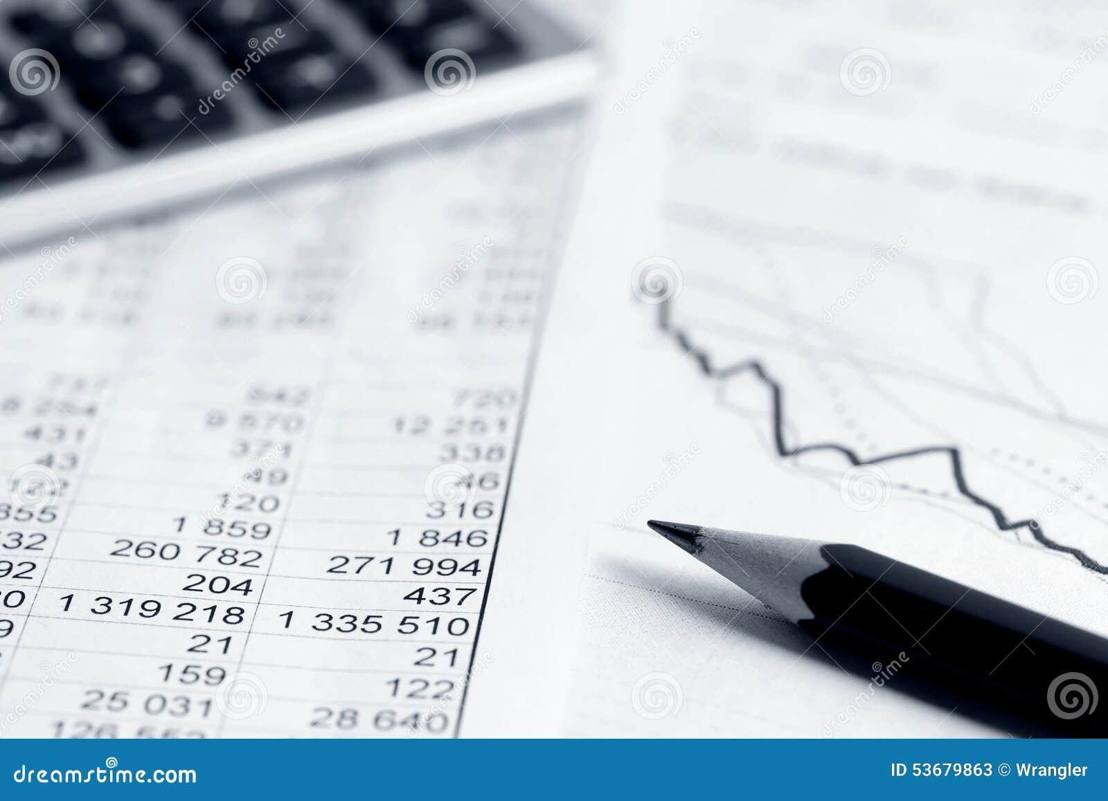 O mercado de valores de ação da contabilidade financeira representa graficamente a análise