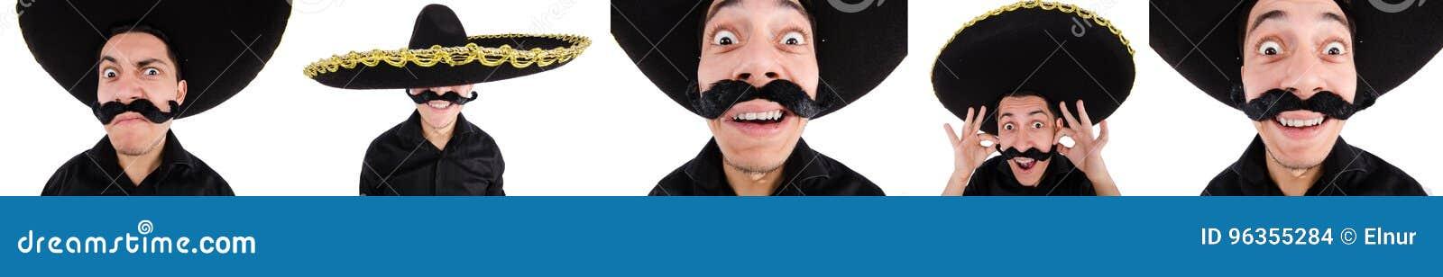 O mexicano engraçado com chapéu do sombreiro