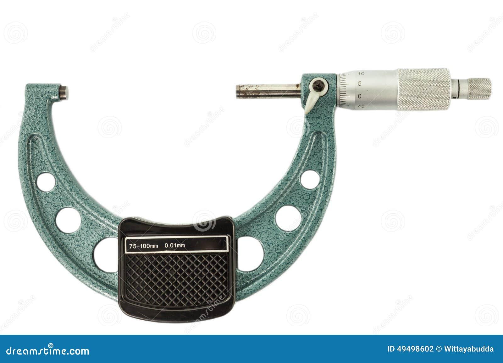 O micrômetro verde