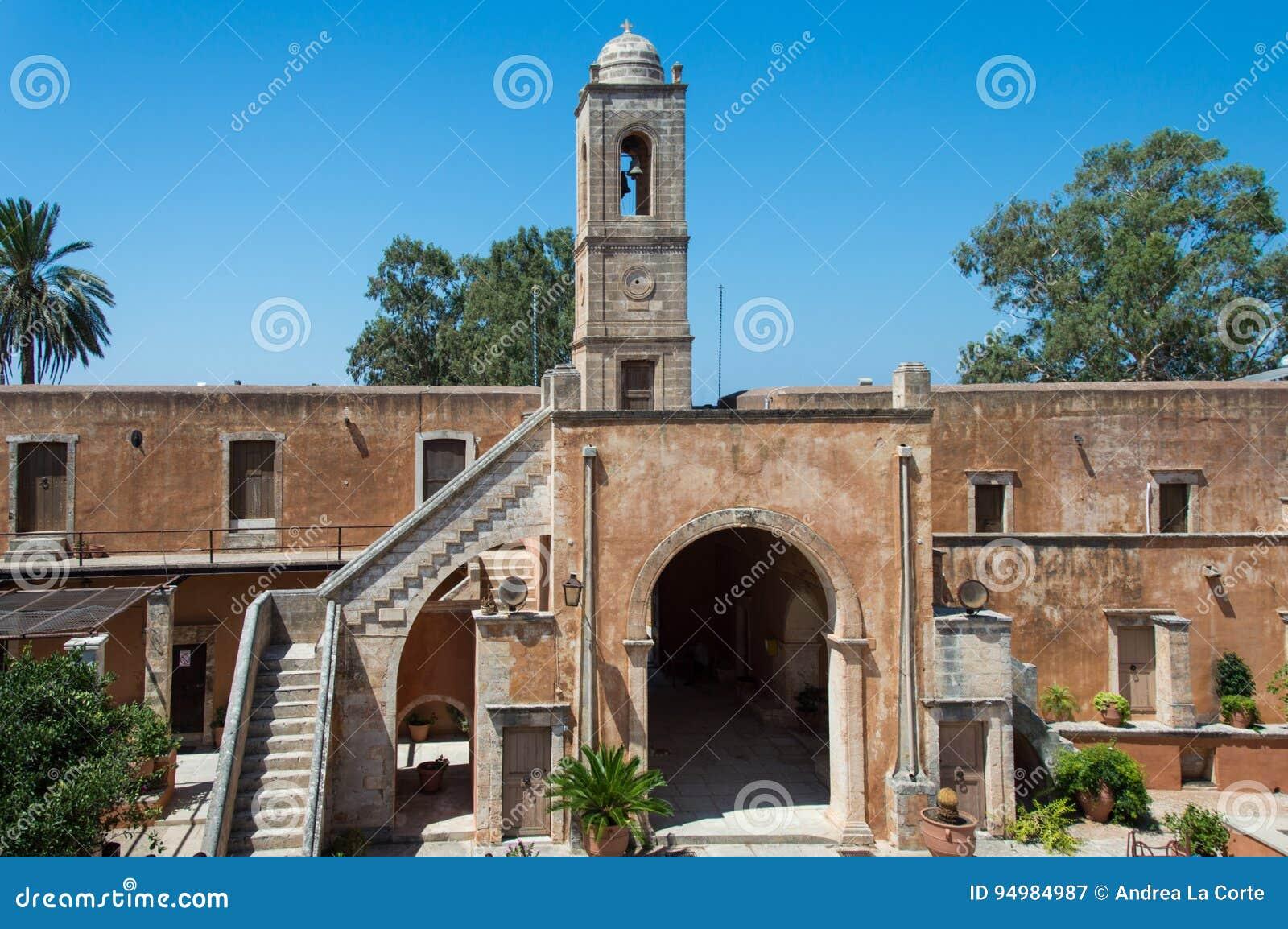 O monastério de Agia Triada na Creta, Grécia