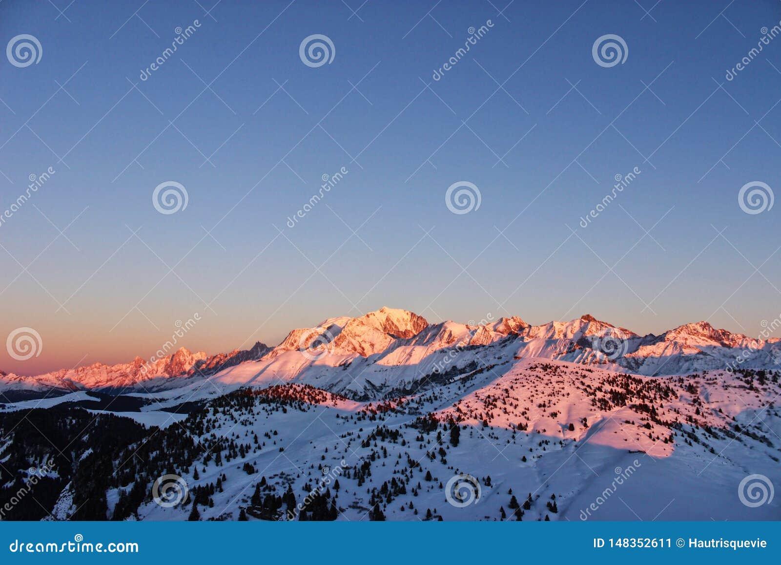 O Monte Branco, com seus amigos