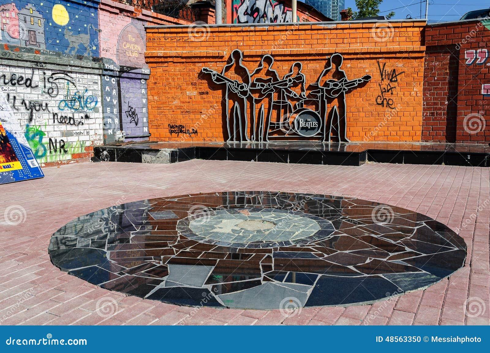 O monumento ao Beatles, Ekaterinburg, Rússia