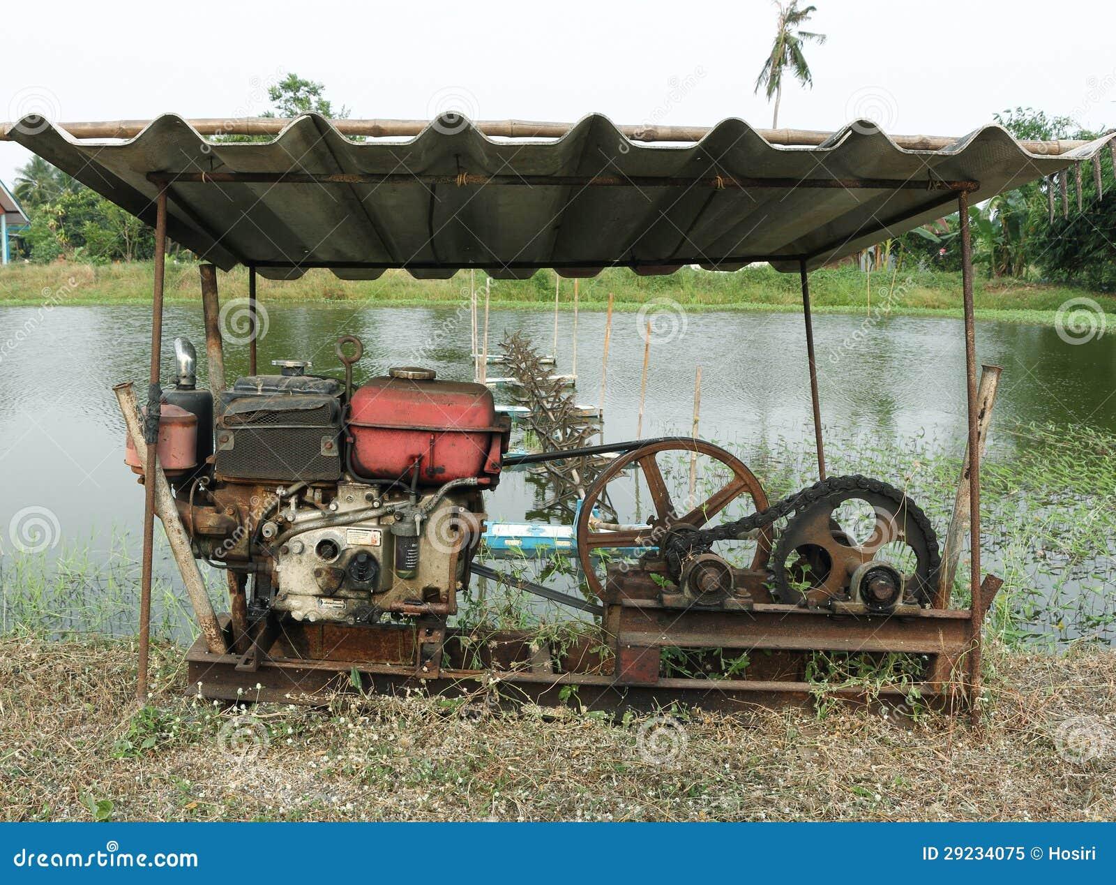 Download O motor velho imagem de stock. Imagem de polia, oxidado - 29234075