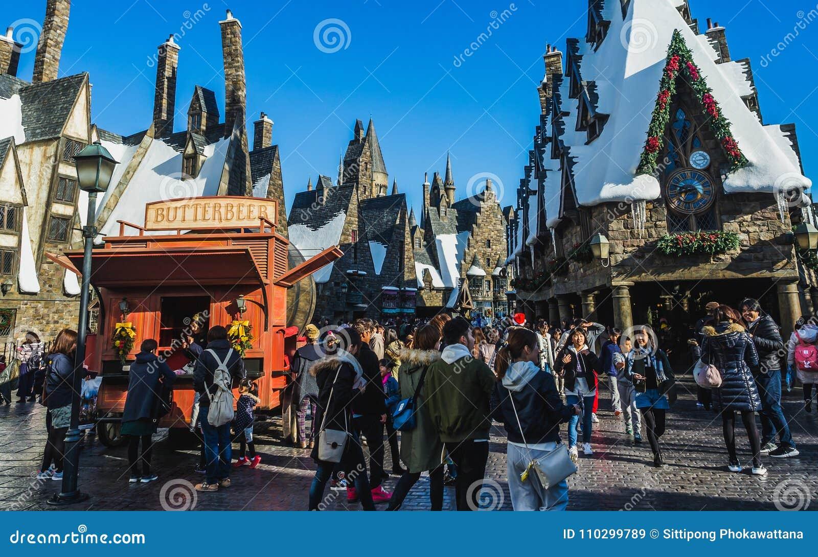 O mundo de Wizarding de Harry Potter em estúdios universais Japão