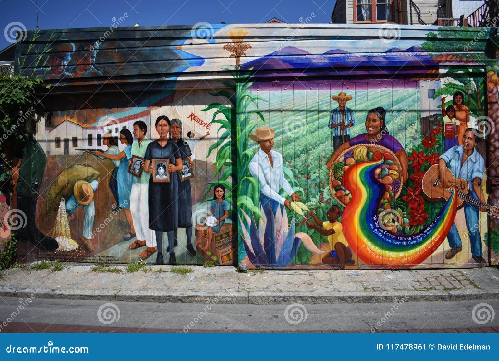 O mundo do ` s de San Francisco reconheceu as pinturas murais Balmy da aleia, 29