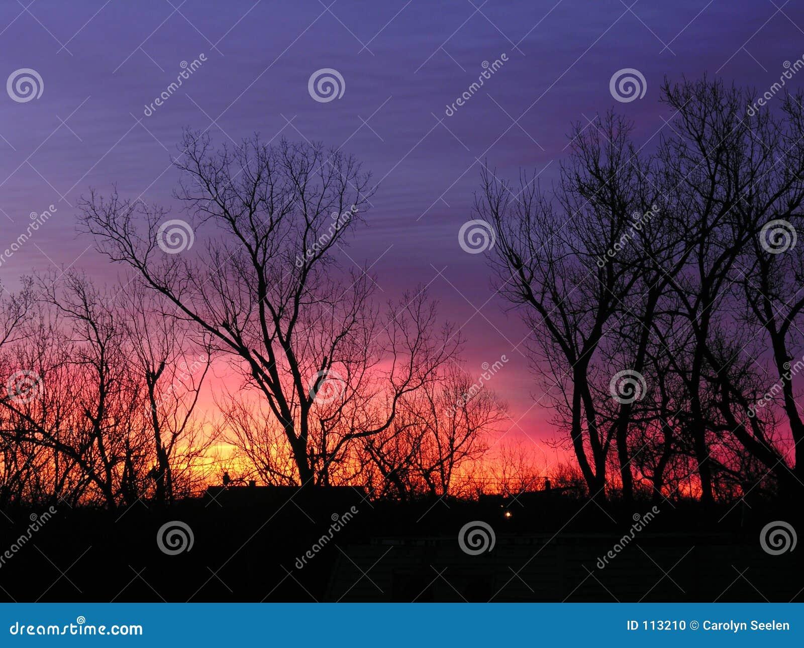 O nascer do sol colore H