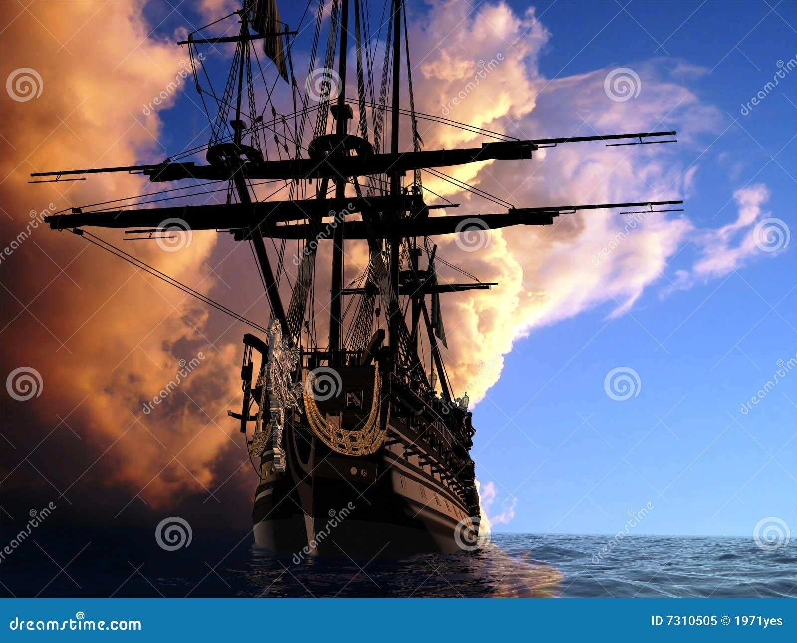 O navio antigo