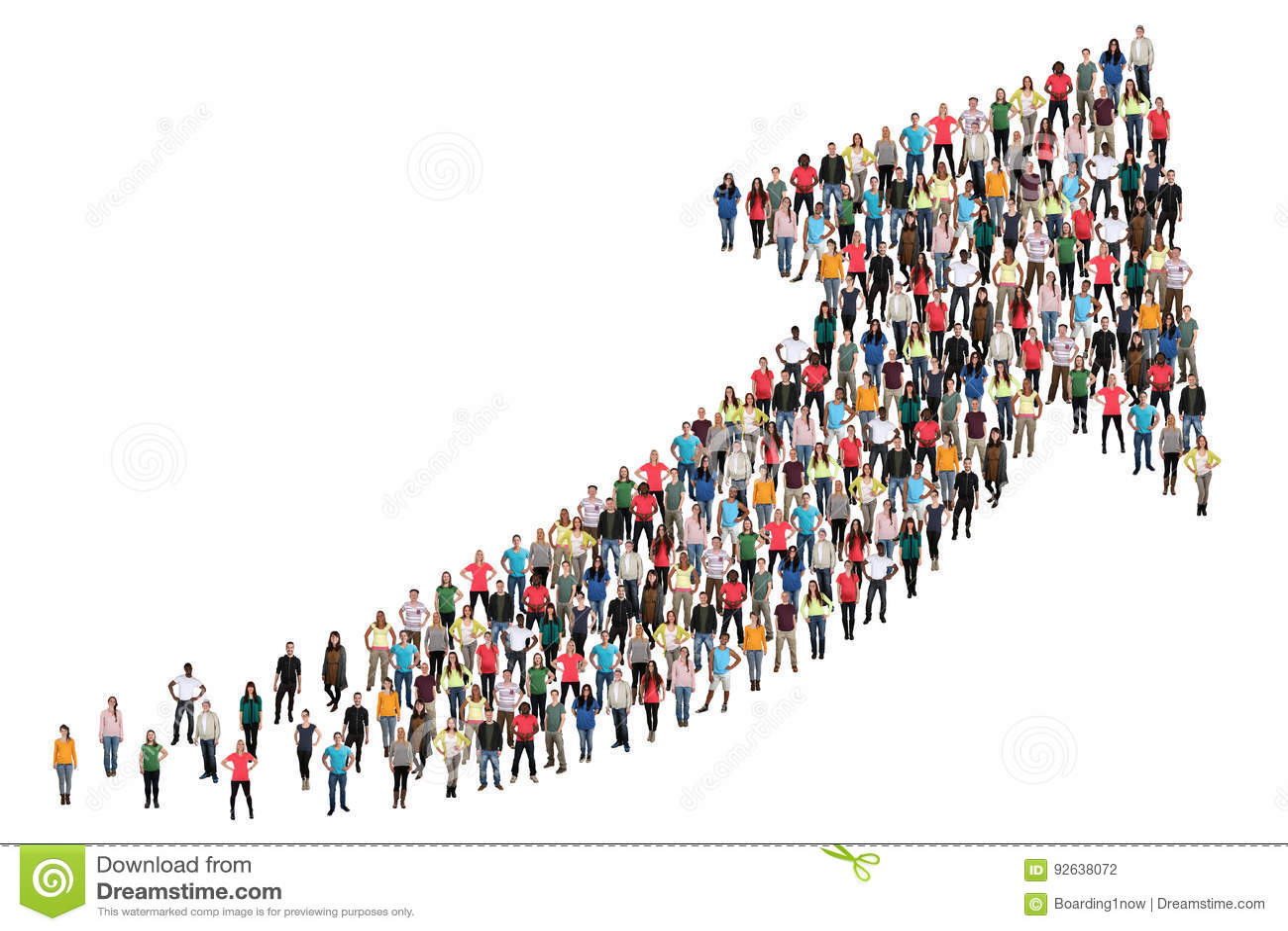 O negócio do sucesso do grupo de pessoas melhora o começo bem sucedido do crescimento