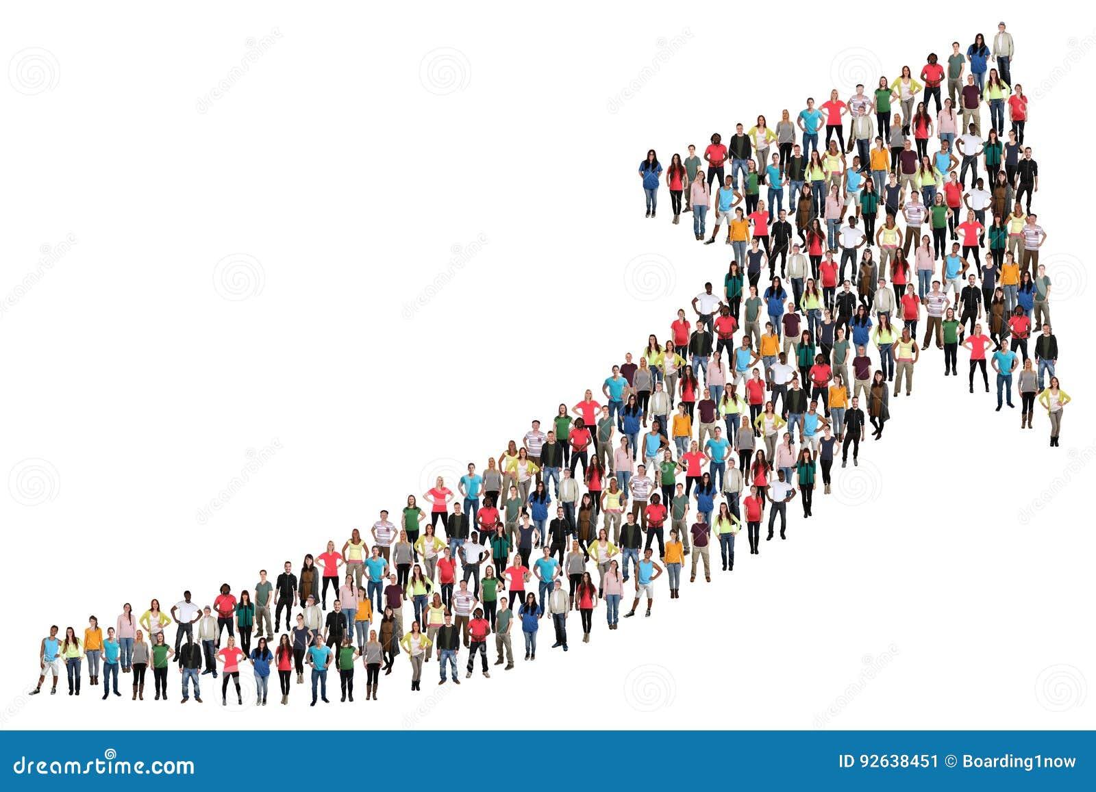 O negócio do sucesso do grupo de pessoas melhora o marke bem sucedido do crescimento
