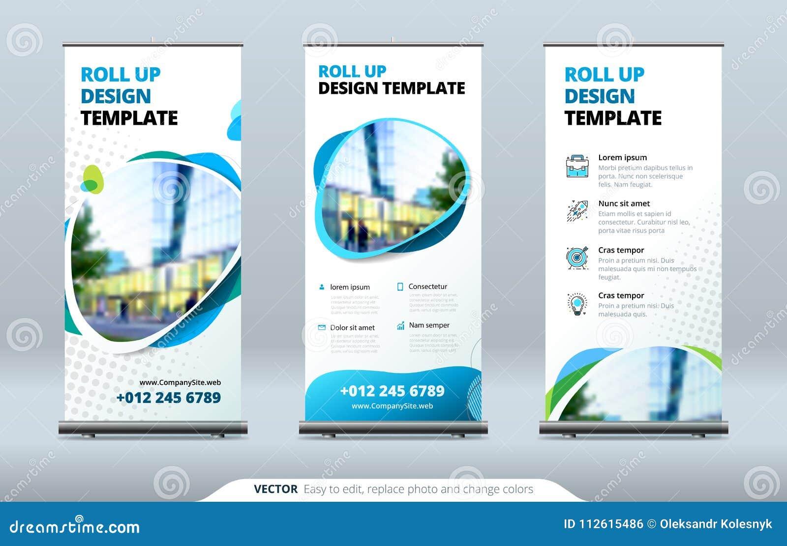 O negócio rola acima o suporte da bandeira Conceito da apresentação Modernos abstratos rolam acima o fundo Vertical role acima o