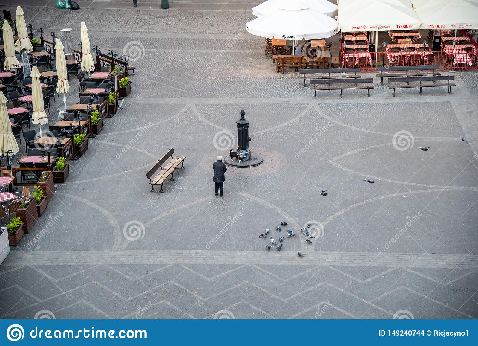 O olhar fixo velho Miasto da cidade de Vars?via ? o centro hist?rico de Vars?via