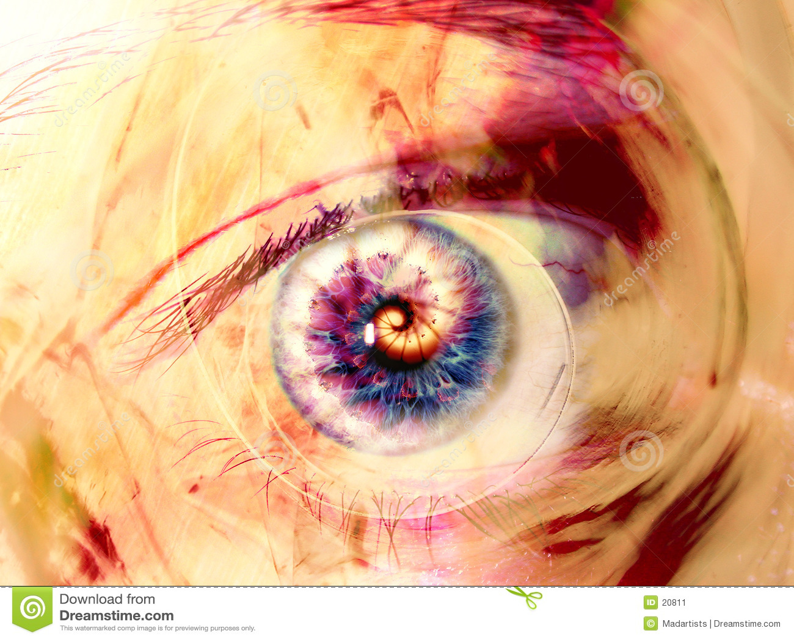 O olho do Fractal roda arte de Digitas